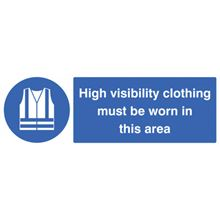 Hi Viz Clothing Must be Worn in this Area - 300x100mm - RPVC 15218G