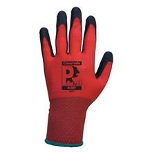 Blk/Red PU Coated Gloves GL0088