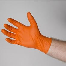 Orange Nitrile Gloves Powder Free Pack 100 GL0110