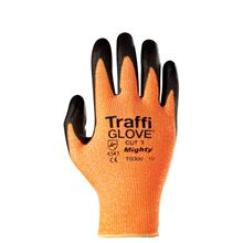 TRAFFIGLOVE 'Mighty' Amber PU-Coated Gloves - Cut Level 3 GL4387