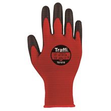 TRAFFIGLOVE 'Agile' Red PU-Coated Gloves - Cut Level 1 GL6941
