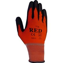 Red PU Coated Nylon Gloves GL9972
