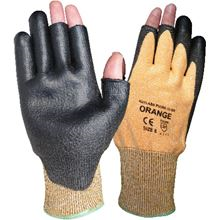 Kutlass Orange Fingerless Cut 3 PU Coated Gloves GL9974