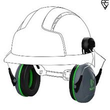 JSP Sonis 1 Helmet Mounted Ear Defender - SNR 26 HP0040
