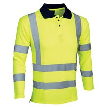 'Picaddily' Long-Sleeved Hi-Vis Polo Shirt HV5173