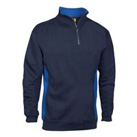 VELTUFF® 'Zone - Mid' Two-Tone Quarter-Zip Sweatshirt VC20 SH0051