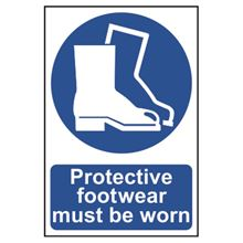 Protective Footwear Must Be Worn - 200x300mm - PVC SK0016