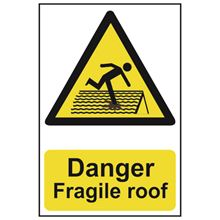 Danger Fragile Roof - 200x300mm - PVC SK1104