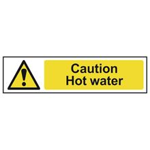 Caution Hot Water - 200x50mm - PVC SK5116