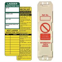 Ladder Tag Kit Single 1 Asset Tag holder, 2 inserts & 1 Pen SKTG04KIT