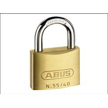 ABUS 55/40 40mm Brass Padlock Keyed 5401 SP5401