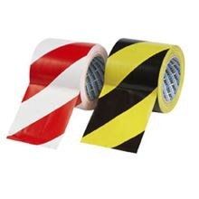 Black/Yellow Self-Adhesive Zebra Warning Tape − 100mm x 33m TA0508