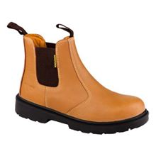 TAN BROWN Comfortable Safety Chelsea Boots S1P SRC VF0631
