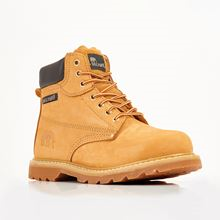 UPGRADED RANCH Nubuck Honey Welted Safety Boot now S1P SRC anti slip VF3279